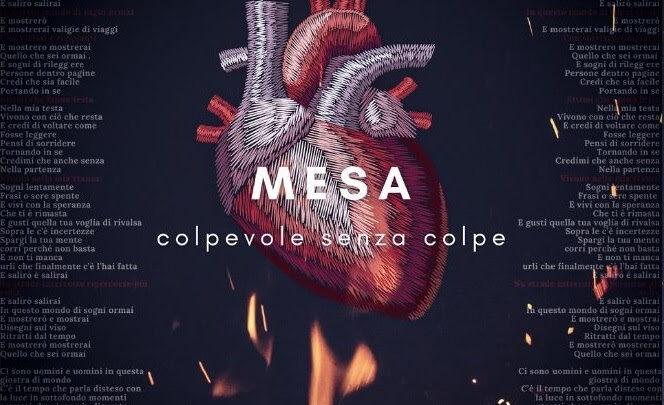 """MESA DA VENERDÌ 21 MAGGIO ESCE IN RADIO E IN DIGITALE """"COLPEVOLE SENZA COLPE"""" IL NUOVO SINGOLO"""